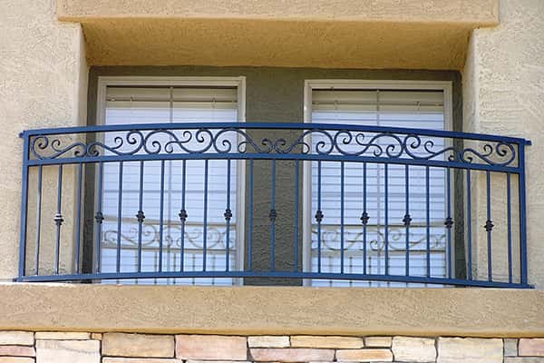 Cropped Faux Decorative Balcony