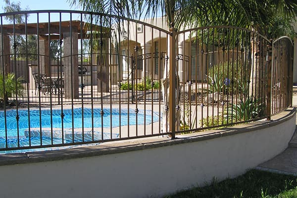 Decorative Iron Pool Fencing