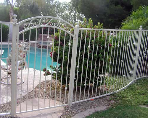 Decorative Wrought Iron Pool Fencing