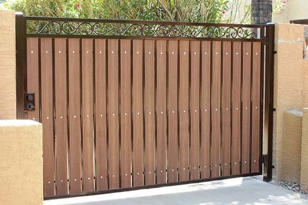 Iron Wood Gates Phoenix Sun King Fencing