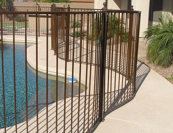 Rounded Pool Fence