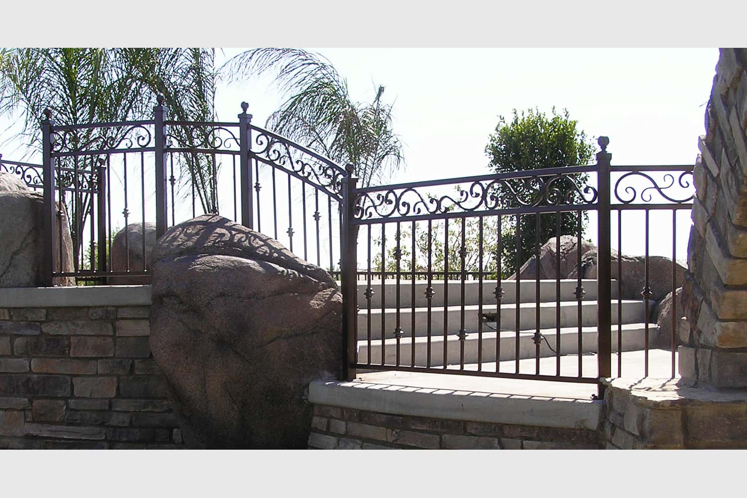 3-Rail Decorative Patio Railing