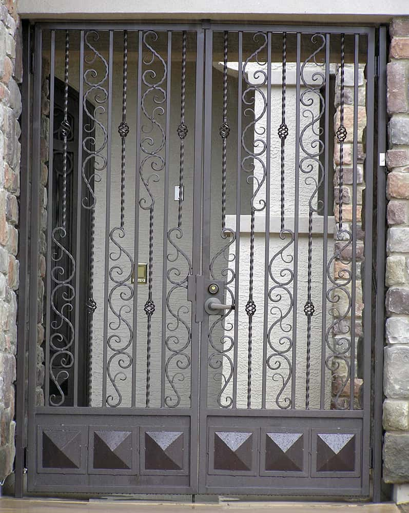 Full-Height Decorative Double Entry Gate