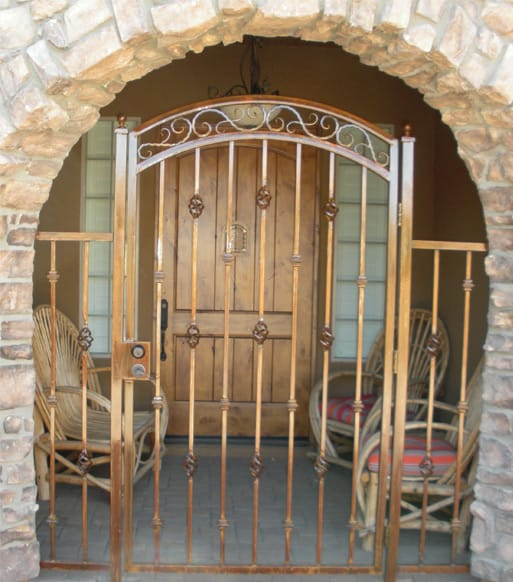 Arched Decoartive Gate and Side Panels