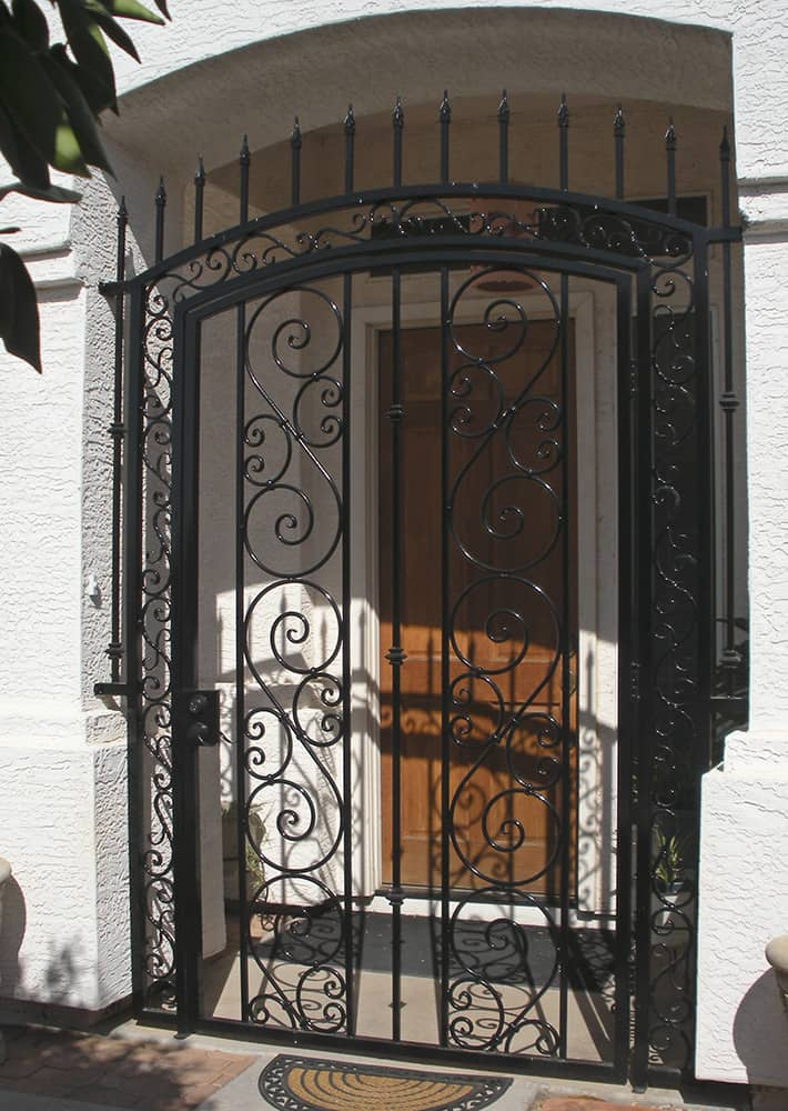 Tall Arched Entry Gate with Spears