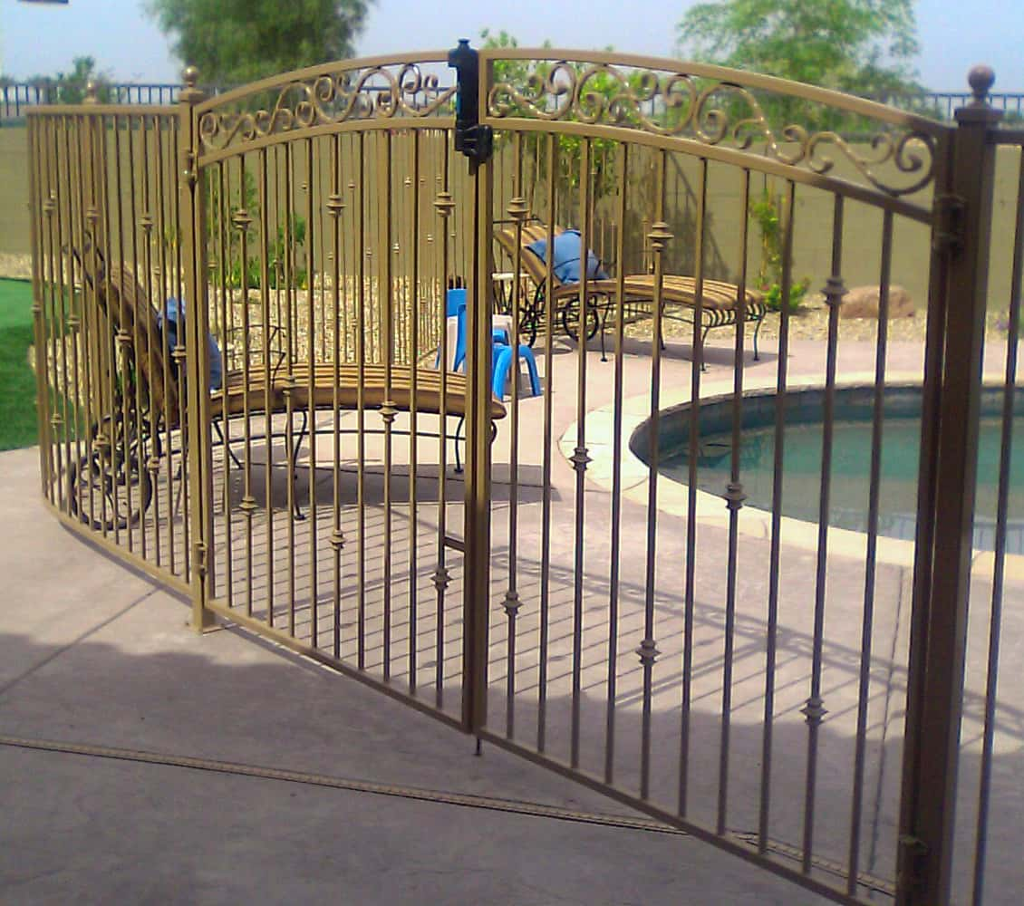 Decorative iron pool fencing examples sun king