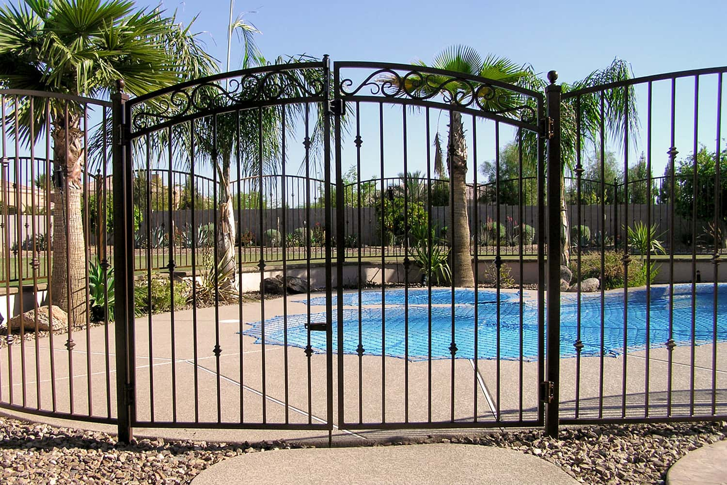Decorative Iron Pool Fencing Examples