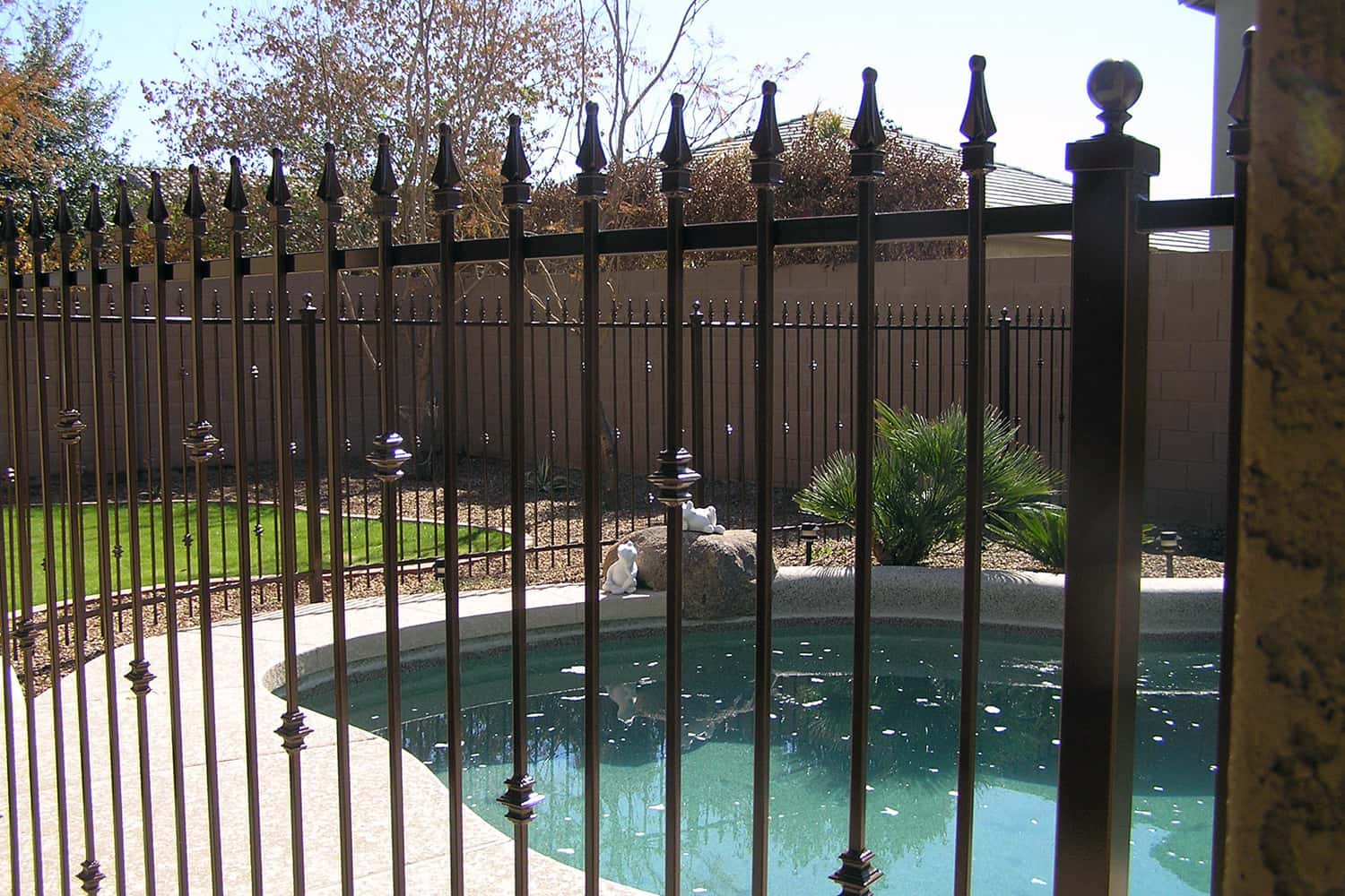Decorative Pool Fence Decorative Iron Pool Fencing Examples Sun King Fencing