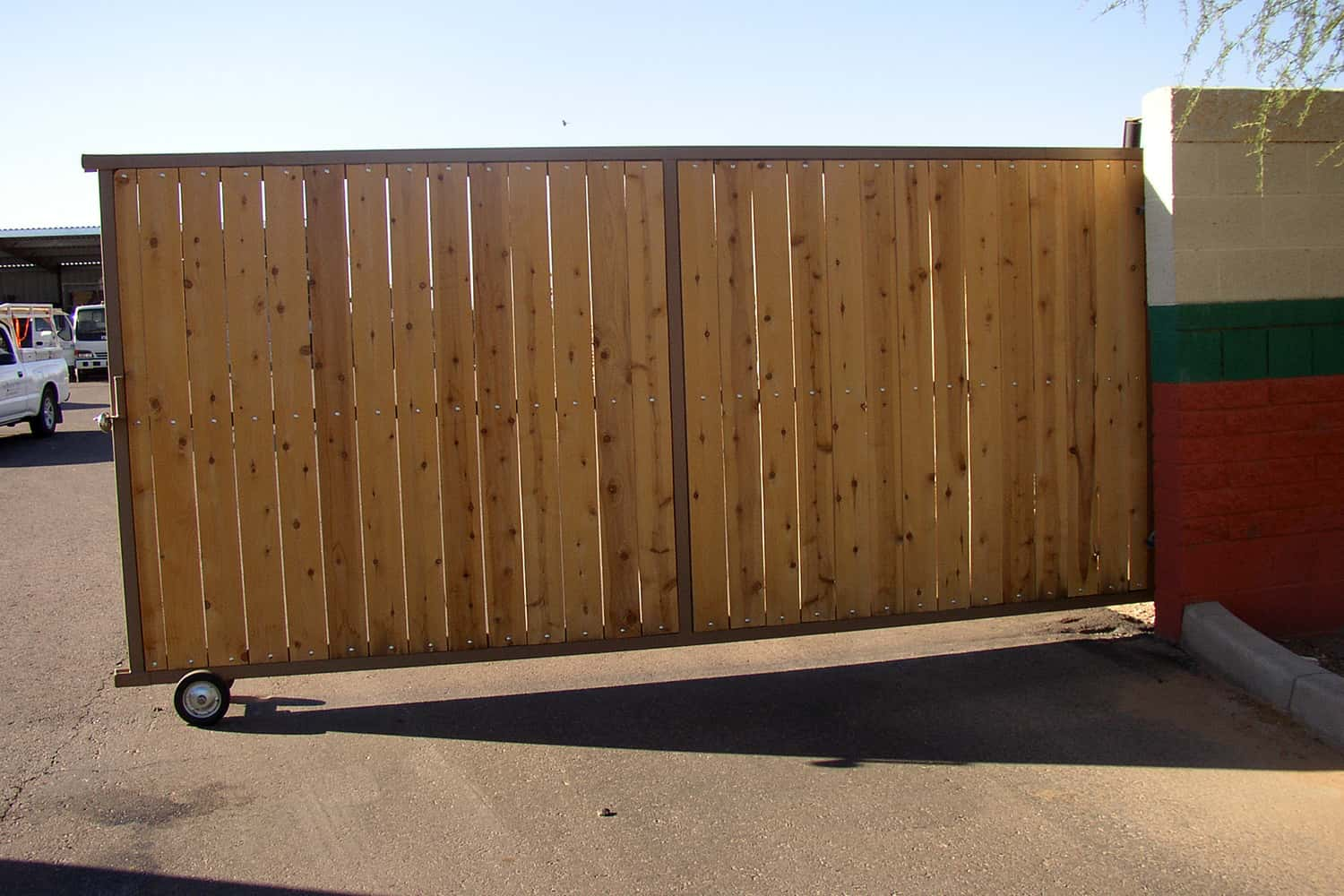 Commercial Use of an Iron and Wood RV Gate