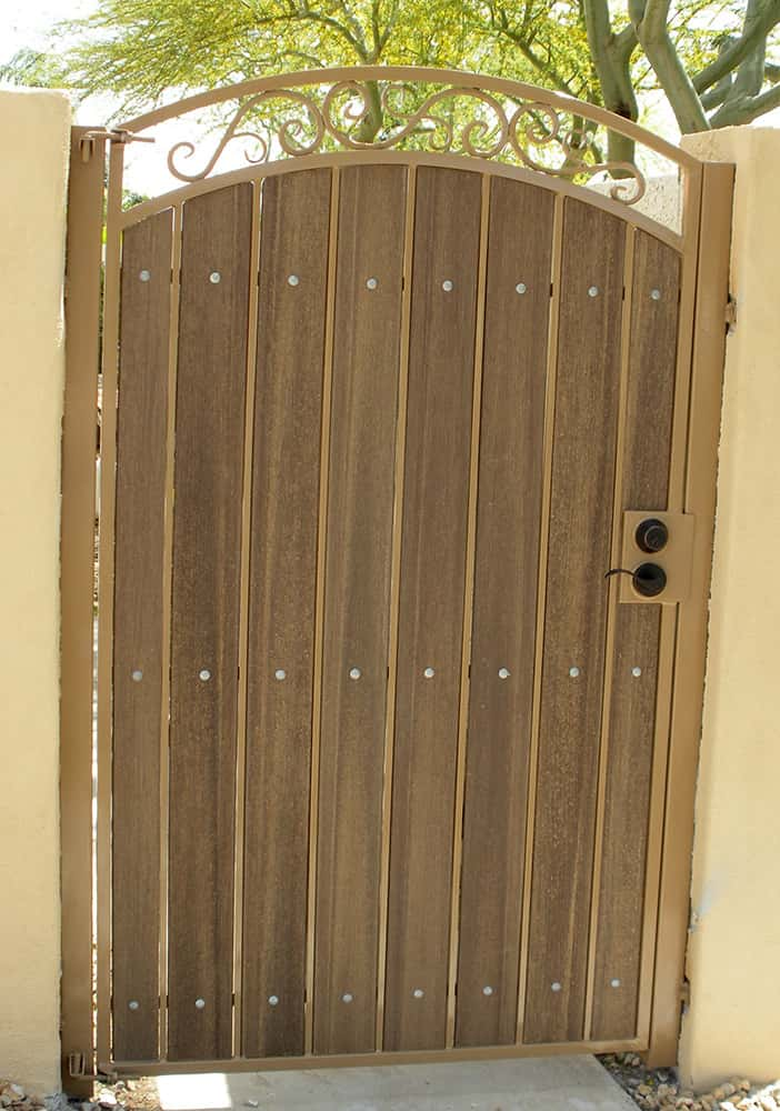 Iron Amp Wood Gate Examples Sun King Fencing Amp Gates