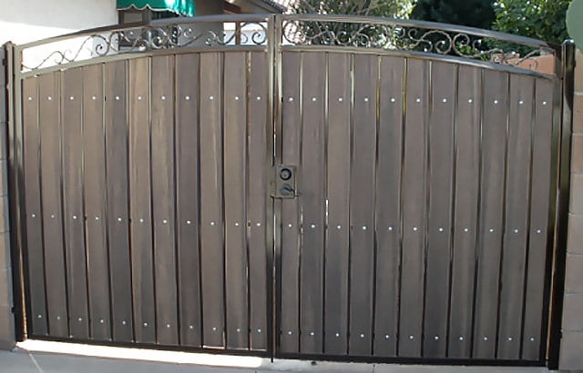 wrought iron privacy fence. Wonderful Wrought Iron Wood Gate Examples Sun King Fencing Gates Intended Wrought Privacy Fence E