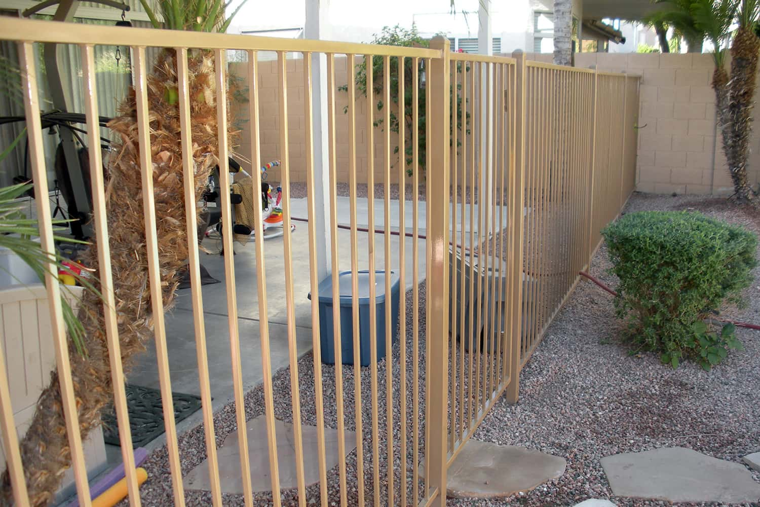 Classic Pool Safety Fencing with a Gate