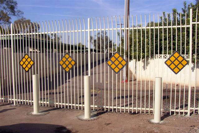 8′ Tall Security Fencing with Bollards